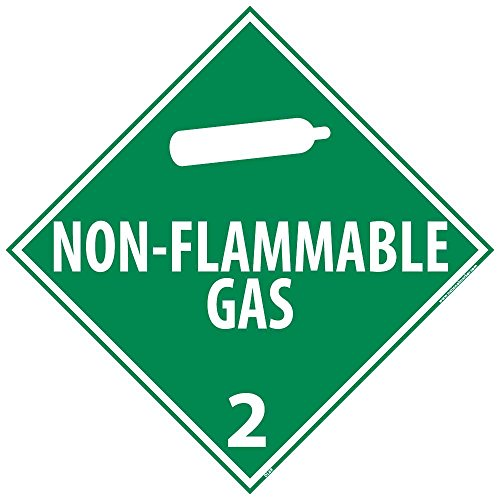 NMC DL105P50 Inhalation Hazard 2 Dot Placard Sign