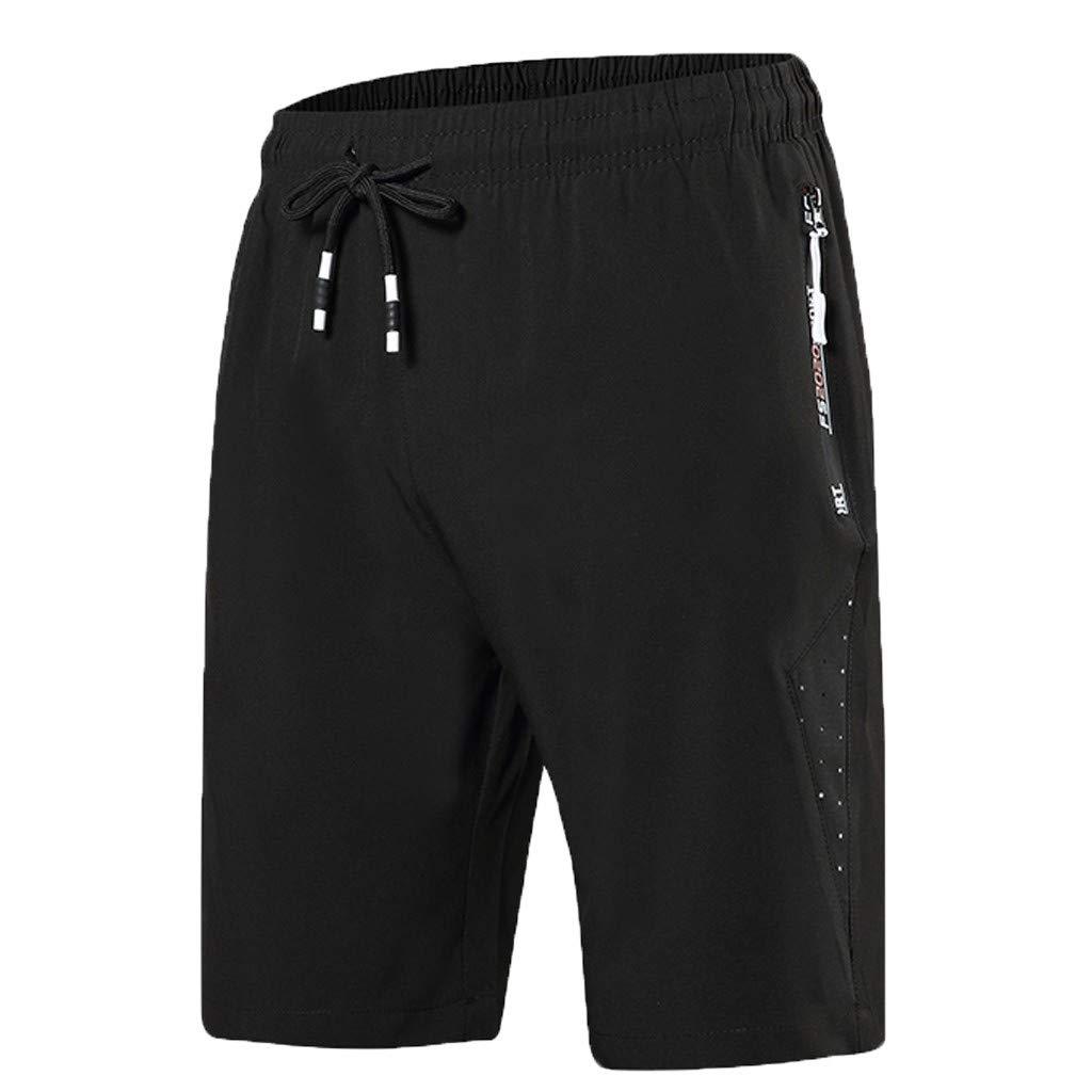 Balakie Mens Summer Shorts Breathable Quick Dry Patchwork Drawstring Sports Short Pants