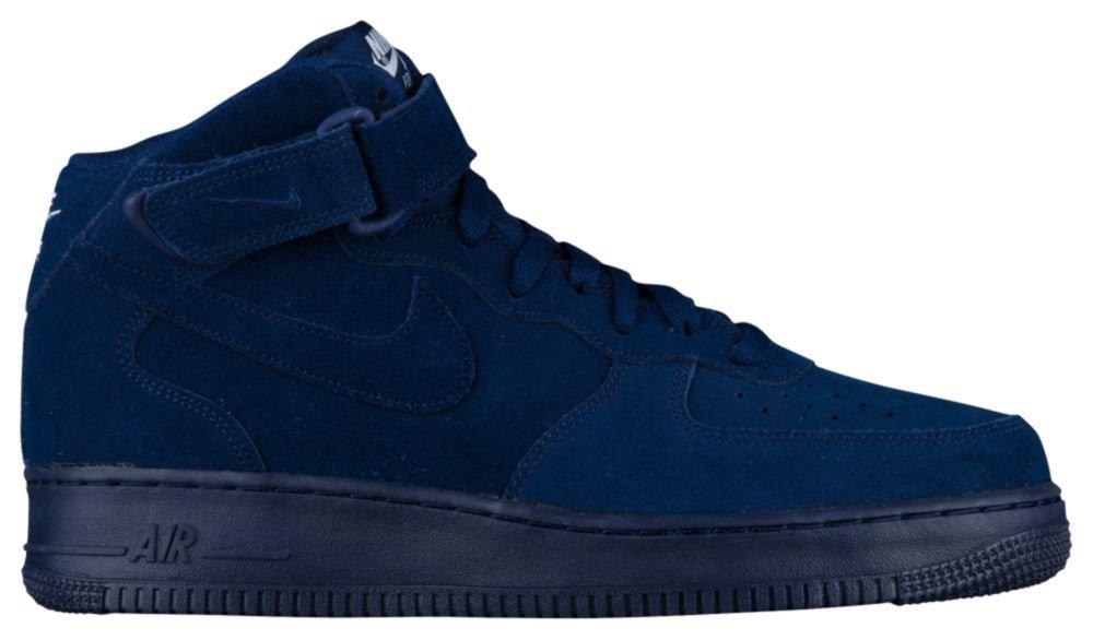 [ナイキ] Nike Air Force 1 Mid - メンズ バスケット [並行輸入品] B072PVCMC2 US14.0 Binary Blue/Binary Blue/White