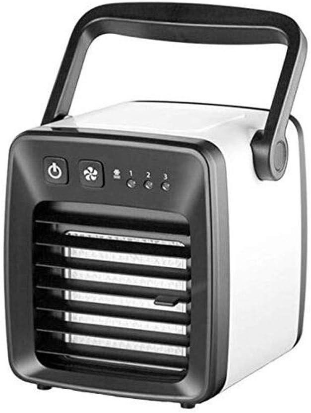 LYQ Refrigerador Aire Acondicionado pequeño Portátil USB Ventilador pequeño Aire Acondicionado Ventilador Cama Aire frío Ventilador (Color : Black): Amazon.es: Hogar