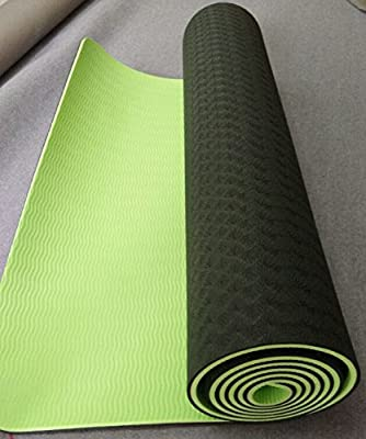 "TPE Yoga Mat - Best Only Non Slip & Eco Friendly ¼"" Inch Thick Mat for Men, Women, Kids - 72"" x 24"" Inches - Strap, Sling Included - Lifetime Guarantee"