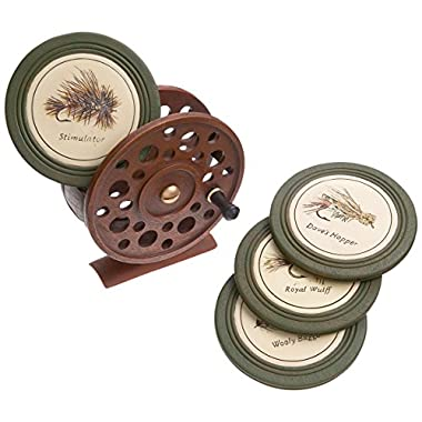 Big Sky Carvers Fly Reel Coaster Set