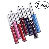 Frcolor 7pcs Women Diamond Shiny Lipstick Charming Long Lasting Liquid Lipstick Glitter Lip Gloss