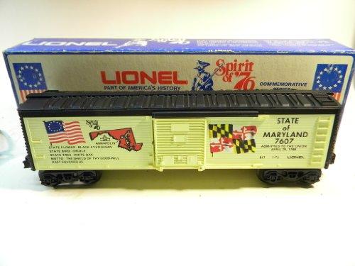 Lionel 7607 Spirit of 76 Maryland Box Car O - Boxcar Maryland