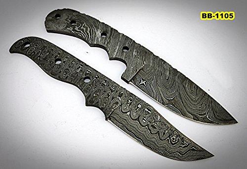 (BB-1105, Handmade Damascus Steel Full Tang Knife Set - Best Quality Blank Blades)