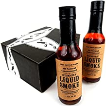 Lazy Kettle Brand All Natural Concentrated Hickory Liquid Smoke, 5 oz Bottles in a BlackTie Box (Pack of 2)