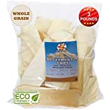 Premium Thick Cut Chips, Wholegrain Rawhide (Last much longer than traditional chips). 100% Natural. The best behavioral Dog Chewing Treat Solution. No preservatives. (3 Pounds)