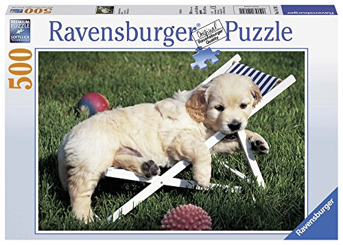 (Ravensburger Golden Retriever Puppy Jigsaw Puzzle (500 Piece) )
