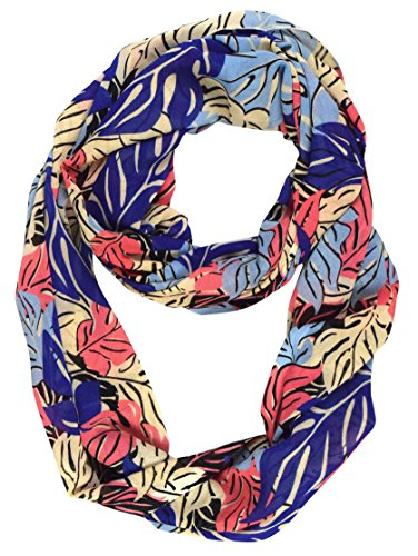 Peach Couture Summer Fashion Womens Bohemian Design Sheer Infinity Scarves (Multicolor) -