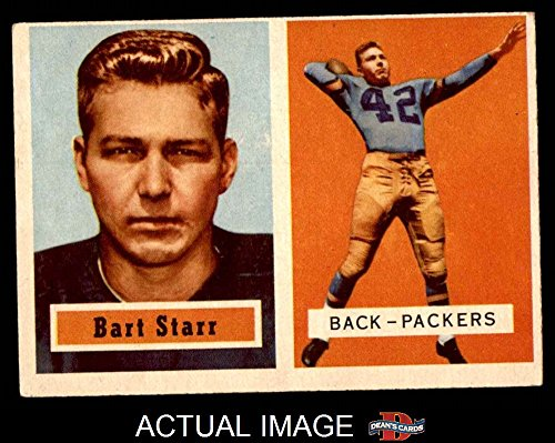 1957-Topps-119-Bart-Starr-Green-Bay-Packers-Football-Card-PSA-4-VGEX-Packers
