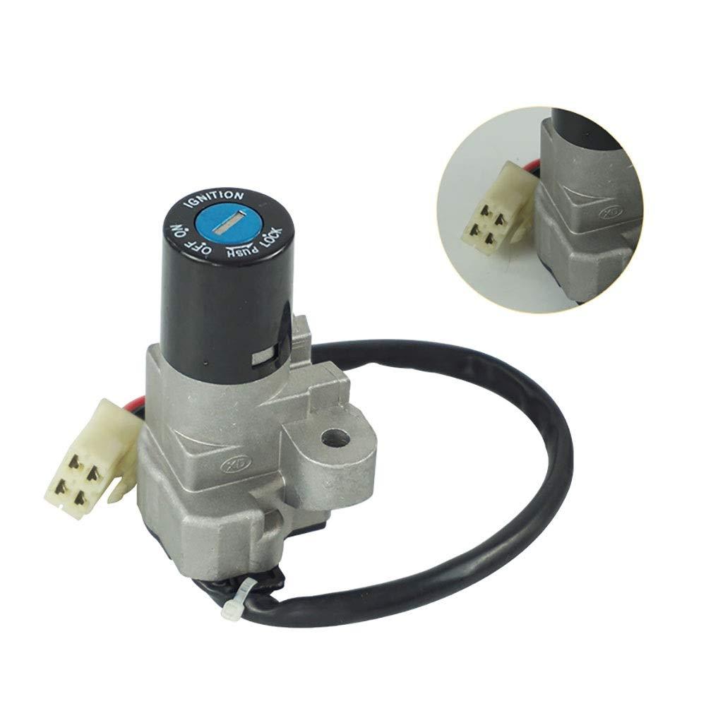 Accesorios Motos Bloqueo de la llave del asiento del tap/ón del combustible de gas para Suzuki GS500 2001-2012