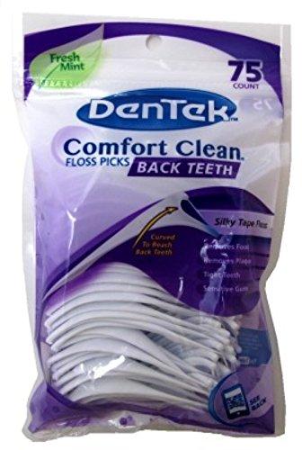 Dentek Floss Picks Easy Angle Fresh Mint 75's Bagged (Zahnseide)