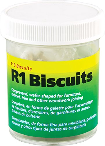 wolfcraft 2993404 Compressed Wafer Shaped Wood Joining Biscuits for Joining Wood Pieces, #R1, 110 Piece Jar (Biscuit R3)