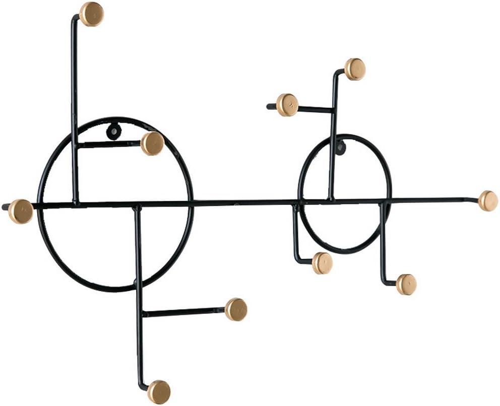 percha ganchos decorativos sin clavos CUPWENH Gancho de hierro creativo de pared