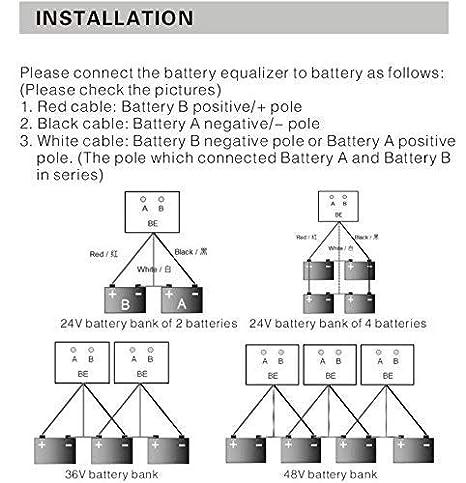 Recargable ecualizador 2 × 12 V para pilas cargador ...