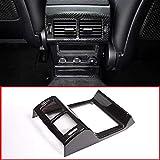 ABS Plastic Rear Air Conditioning Vent Frame Trim Accessories for Jaguar F-Pace F PACE 2016-2018 Carbon fiber Style