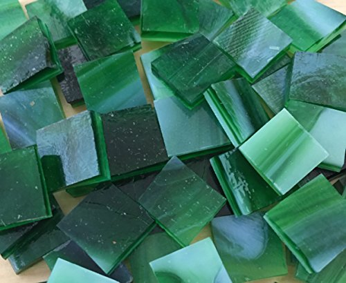 Green Stained Glass Mosaic Tile (1/2
