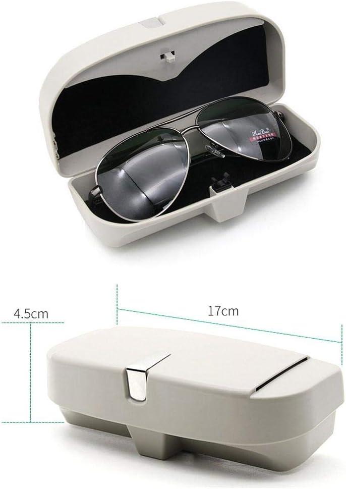 Womdee Auto Brillenetui Halter Auto Sonnenbrille Box f/ür alle Fahrzeugmodelle Double Snap Clip Design Auto Brillenetui Box mit 2 Ticket-Karten-Clip einfache Installation