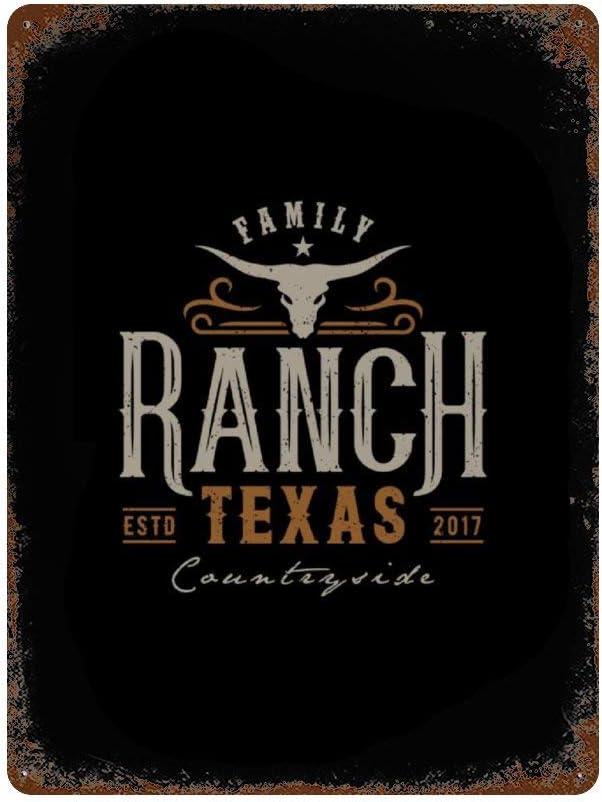BYRON HOYLE Texas Longhorn Country Western Bull Vintage Metal Tin Sign, Vintage Logo Design Wall Art Decor Poster for Home Bar Party Restaurants Cafes Outdoors