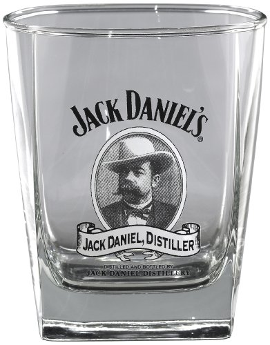 Jack Daniel's Licensed Barware Cameo Double Old Fashioned Glass (Daniels Glassware Jack)
