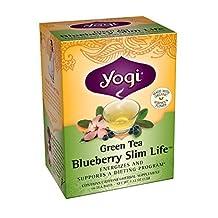 Yogi Blueberry Slim Life Green Tea, 16 Tea Bags (Pack of 6) by YOGI