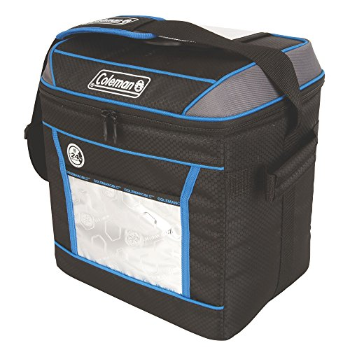 Coleman Company 24 Hour 30-Can Cooler, Black/Blue