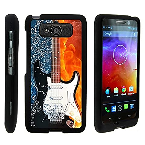 Motorola DROID Mini Case, Stylish Personalized Protective Snap On Hard Case Phone Protector for Motorola DROID Mini XT1030 by MINITURTLE - Fire Water Electric (Water Cover Motorola)