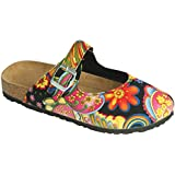 The Paragon Paisley Slip-On Clogs, Comfortable Mule Shoes 6 B(M) US