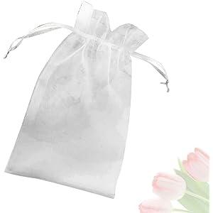 41fb8d87d Saquitos de regalo de organza, 100 unidades, bonitas bolsas para entregar  regalos a sus
