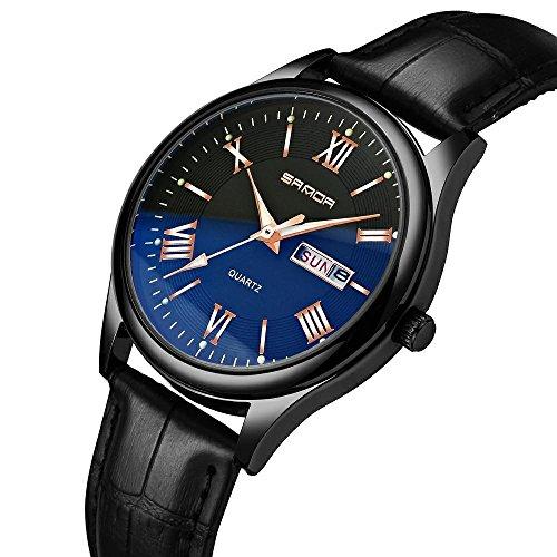 SANDA Men's Date Calendar Wrist Watches Men Casual Business Dress Waterproof Watch Simple Design Fashion Classic Analogue Quartz Watches for Men (Mens Analogue Quartz Watch)
