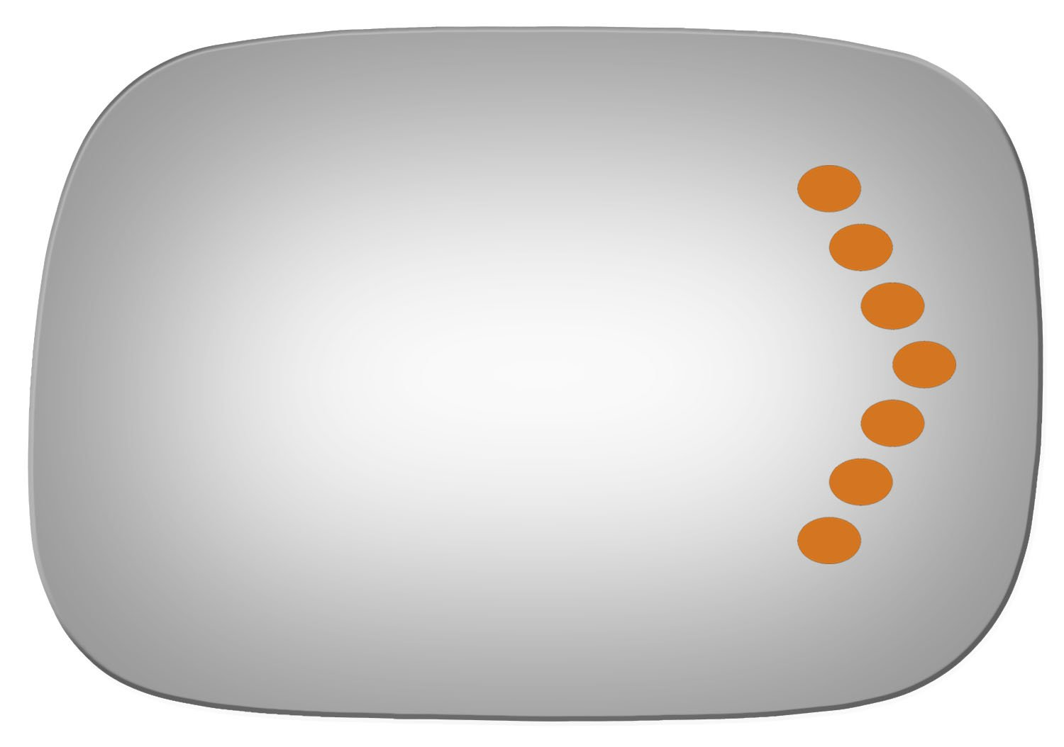 Burco 5281S Convex Passenger Side Power Replacement Mirror Glass for 05-10 Toyota Avalon 2005, 2006, 2007, 2008, 2009, 2010