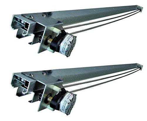 (2) HYDROFARM Movable 6' Hydroponics Plant Grow Light Track Systems   LT6SYS