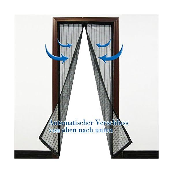 51vVAYT7ToL Anpro Fliegengitter Tür Moskitonetz Tür 90 x 212CM, Insektenschutz Magnet Vorhang Fliegenvorhang für Balkontür…