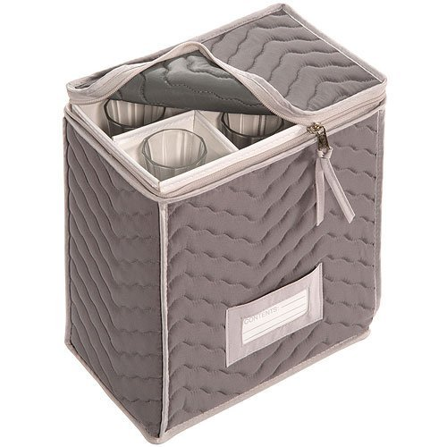 Richards Homewares Microfiber Deluxe Champagne Flute Storage - Case Glassware
