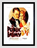 MOVIE FILM PUBLIC ENEMY JAMES CAGNEY CRIME DRAMA HARLOW BLACK FRAME FRAMED ART PRINT PICTURE + MOUNT B12X5563