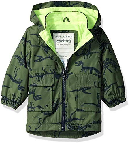 Jacket Print Carter's Favorite Down Alternative His Green Dinosaur Rain Baby Boys Jacket Rainslicker qr7wqYt