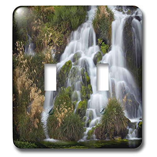 3dRose Danita Delimont - Waterfalls - Waterfalls at Niagara Springs, Idaho, USA - Light Switch Covers - double toggle switch - At Outlets Falls Niagara