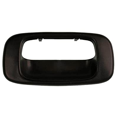 Fits 99-07 Silverado Sierra Tail Gate Handle Bezel Cover Textured Black: Automotive