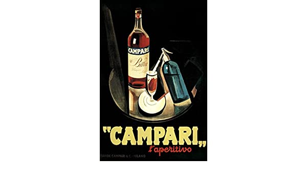 cae5f39232b9 Amazon.com  Poster Foundry Marcello Nizzoli Campari Laperitivo Alcohol  Liqueur Vintage Advertising Print Stretched Canvas Wall Art 16x24 inch   Posters   ...