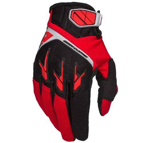 One Industries Atom Gloves (Red/Black, Large/Size 10) Single Track Cycling Gloves