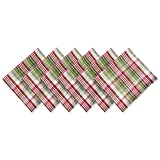 DII Christmas Holiday Holly Jolly Plaid Napkin, Set of 6