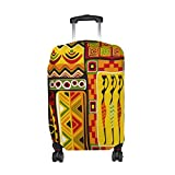 African Art Tribal Print Travel Luggage Protector Baggage Suitcase Cover Fits 26-28 Inch Luggage