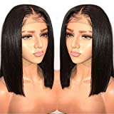 LIAZAHAIR 13x6 Deep Part Short Bob Lace Front Wigs Human Hair Pre Plucked