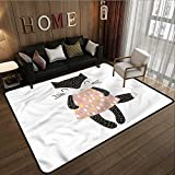 Pet Rug Cat Cute House Pet in Dress Extra Large Rug 6'6''x9'10''
