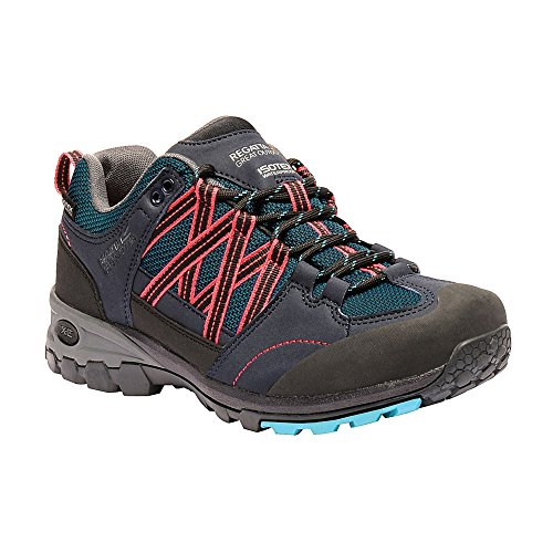 Boots Contrast Lady Hiking Outdoors Morocco Great Blue Rose Low Ladies Regatta Samaris Womens 106Iz