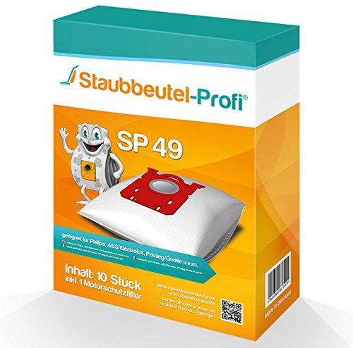 10 Staubsaugerbeutel geeignet für Philips FC 8322/09 PowerLife von Staubbeutel-Profi®