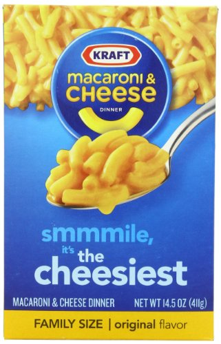 Kraft Macaroni & Cheese, Family Size, 14.5-Ounce Boxes (Pack of 24)