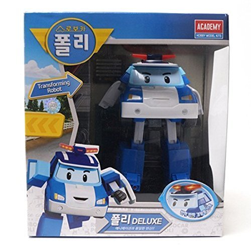 Robocar Poli Deluxe Transformer Toys Academy Robot Action Figures Korean Animation Kids Gift - First Times Class Mail Delivery