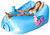 Inflatable Lounger with Air Valve and Mesh, 2017 New Hammock Inflatable Air Lounger Fast Inflate by Wind or Air Pump, Waterproof Air Bag Chair Sofa for Beach,Camping,Pool, Stay Inflated 5 to 8 Hours
