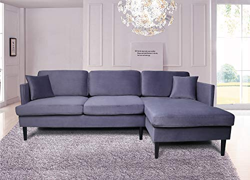 Mooseng Sectional Convertible Chaise Lounge L-Shaped Couches and Sofa